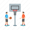 activity, basketball, game, hoop, kids, player, sport icon