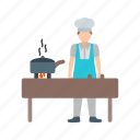 chef, cooking, dinner, fire, food, grill, steak icon