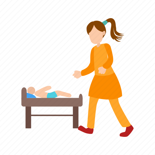 baby, care, child, dressing, infant, mother, newborn icon