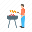 barbecue, chicken, fire, food, grill, season, spring icon