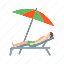 beach, holiday, rest, sand, summer, sun, umbrella icon