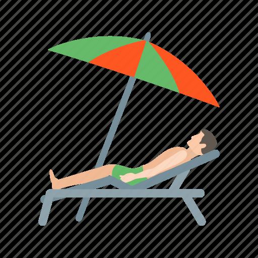 beach, holiday, rest, sand, summer, sun, umbrella icon