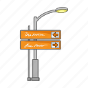 highway, navigation, pointers, road, signs, traffic, trip icon