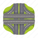 navigation, traffic, trip, highway, road, pointers, signs icon