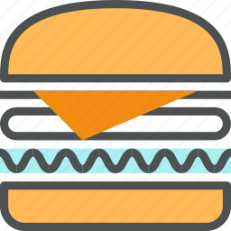 burger, cheeseburger, fast, fastfood, food, sandwich, snack, unhealthy icon