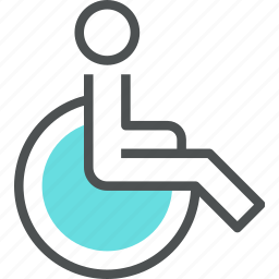 accessibility, accessible, disabled, handicap, invalid, person, wheelchair icon