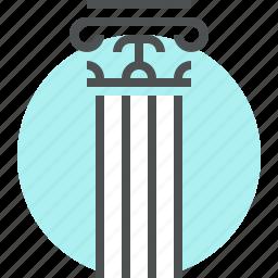 architecture, classic, column, culture, greek, museum, pillar, stand icon