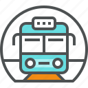 metro, rail, station, subway, train, transit, transport icon
