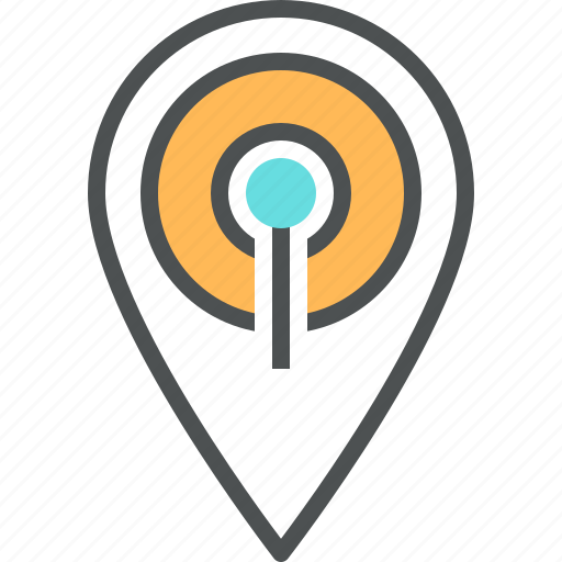 destination, location, mapping, mark, marker, pin, place, wifi icon