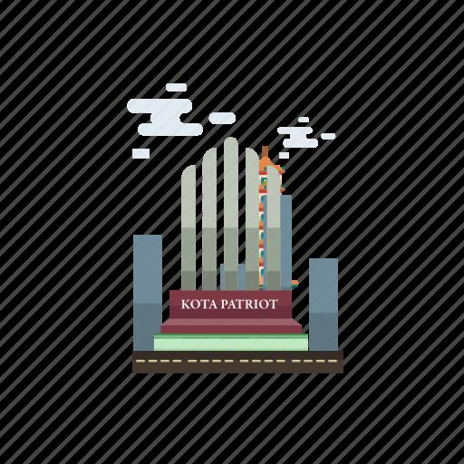bekasi, building, city, indonesian, monument, travel icon