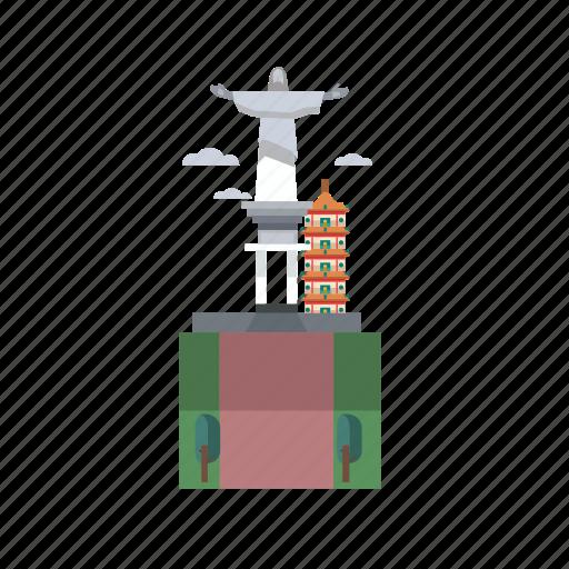 building, city, indonesian, manokwari, monument, travel icon