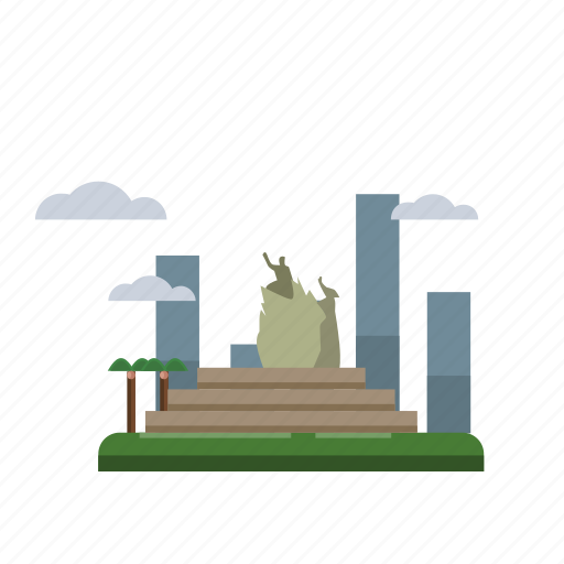 building, city, indonesian, monument, pekanbaru, travel icon