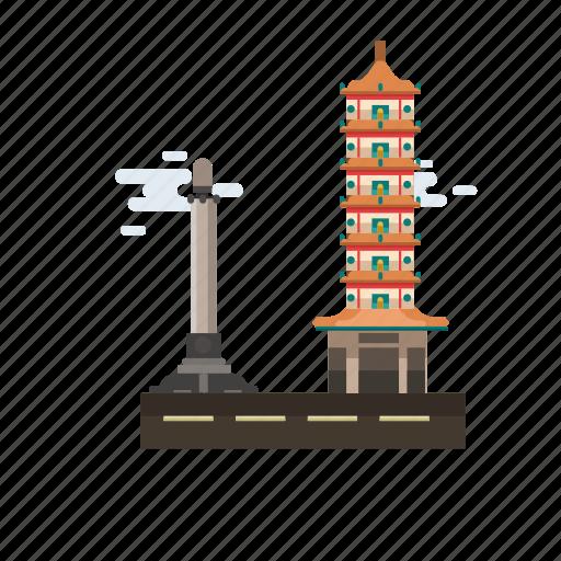 building, city, indonesian, monument, semarang city, travel icon