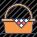 basket, camping, leisure, picnic
