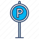 car, lot, parking, sign icon