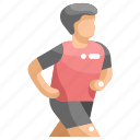 exercise, jogging, man, runner, running, sport, sportive icon