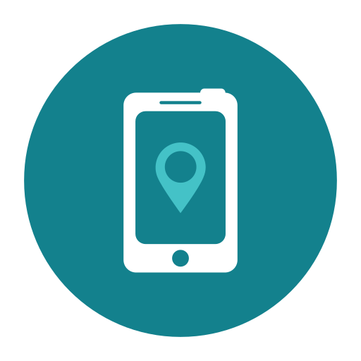 citycons, maps, mobile, phone icon