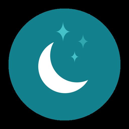 citycons, moon, night, stars icon