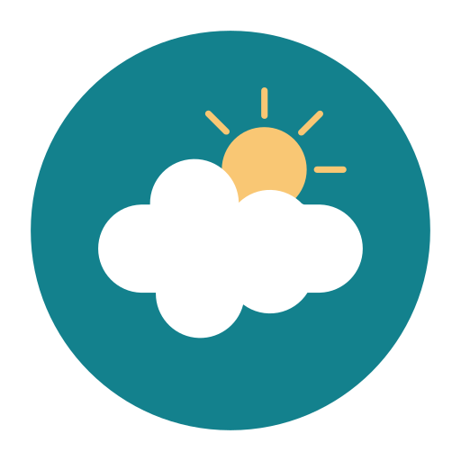 citycons, cloud, sunny, weather icon