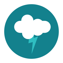 citycons, cloud, thunder, weather icon