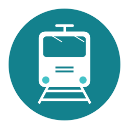 citycons, public, rail, train, transport, travel icon