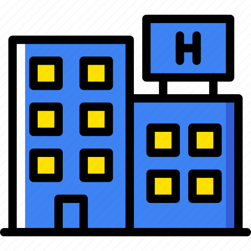 building, city, cityscape, hospital icon
