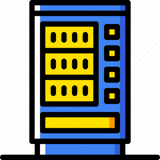 building, city, cityscape, machine, vending icon