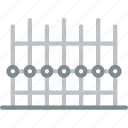 building, city, property, cityscape, fence icon