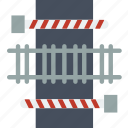building, city, cityscape, crossing, train icon