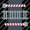 building, city, cityscape, crossing, train icon
