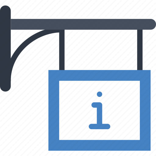 booth, building, city, cityscape, information icon