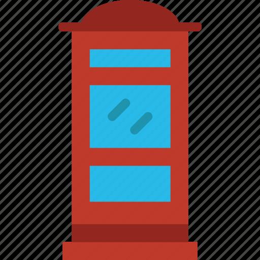 building, city, cityscape, public, telephone icon