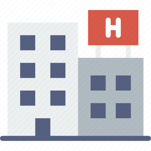 building, city, cityscape, hospital icon