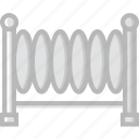 building, city, cityscape, fence icon