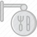 building, city, cityscape, restaurant, sign icon