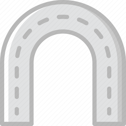 building, city, cityscape, curved, road icon