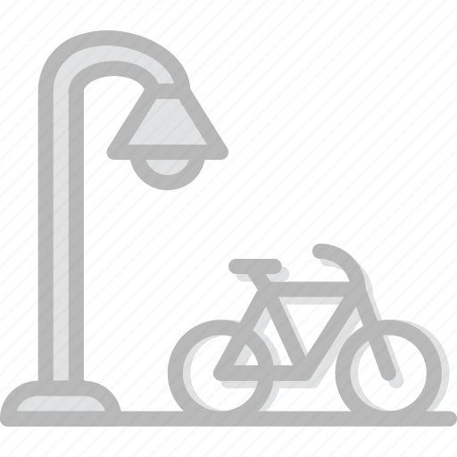 alley, bicycle, building, city, cityscape icon