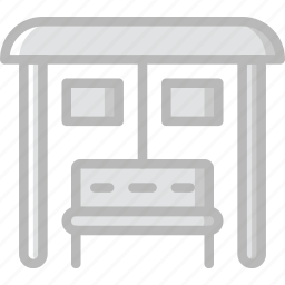 building, bus, city, cityscape, station icon