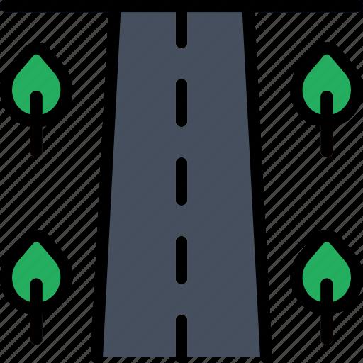 building, city, cityscape, road icon