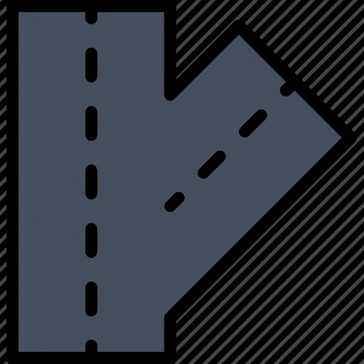 artery, building, city, cityscape, road icon