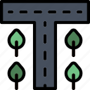 building, city, cityscape, road icon