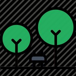 building, city, cityscape, park icon