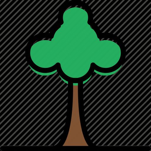 building, city, cityscape, tree icon