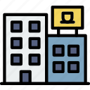 building, city, cityscape, condo icon