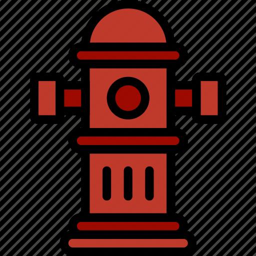 building, city, cityscape, hydrant icon