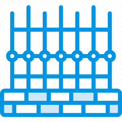 building, city, cityscape, fence, property icon