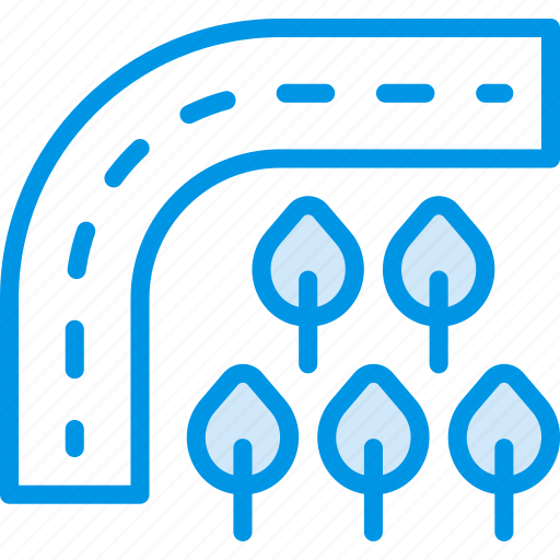 building, city, cityscape, forest, road icon