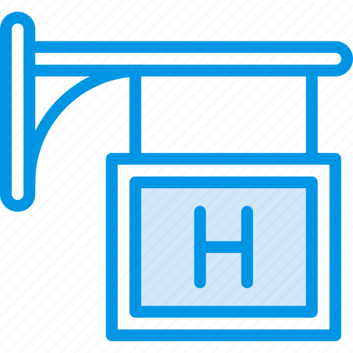 building, city, cityscape, hospital, sign icon