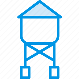 building, city, cityscape, tower, water icon
