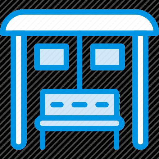building, bus, city, cityscape, station icon